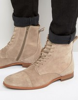 Zign Shoes Suede Lace Up Boots