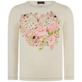 Kate Mack Kate MackCream Floral Heart Print Top