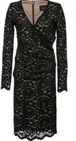 Nicole Miller gathered lace dress - women - Nylon/Polyester/Spandex/Elastane - 8