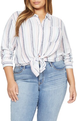 Sanctuary Keepers Button Front Linen Blend Shirt