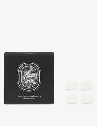 Diptyque Fleur de Peau perfumed brooch ceramic refill pack of four