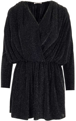 Balenciaga Front Ruched Wrap Dress