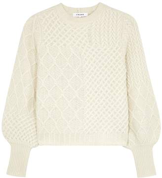 Frame Off-white Cable-knit Wool-blend Jumper