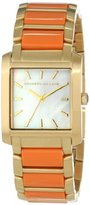 Kenneth Jay Lane Women's KJLANE-1610 Gold-Tone Watch with Coral-Color Resin Bracelet