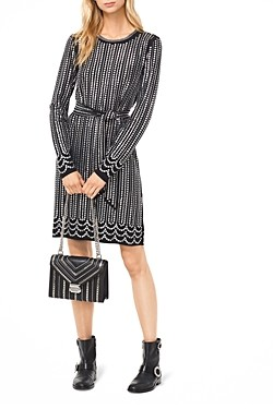 MICHAEL Michael Kors Studded Matte-Jersey Dress