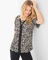 Chico's Leopard Lace-Up Tunic