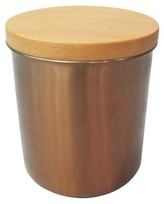 Threshold Stainless Steel Canister with Wood Lid & Copper Finish - Team Color