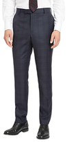 Jaeger Glen Check Slim Fit Trousers, Navy