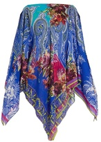 Etro Floral and paisley-print silk-crepe cover-up