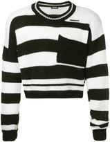 Raf Simons cropped stripe sweater
