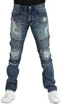 Earl Jean Men's Kimball Biker Tapered Stretch Denim Jeans