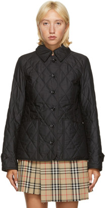 Burberry Black Quilted Fernleigh Jacket