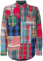 Polo Ralph Lauren long sleeved patchwork shirt