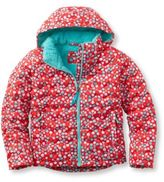 L.L. Bean Girls' Bean's Fleece-Lined Down Jacket, Print