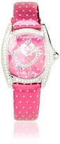 Hello Kitty CT.7094SS-42 Stainless Steel Dark Pink Leather Watch