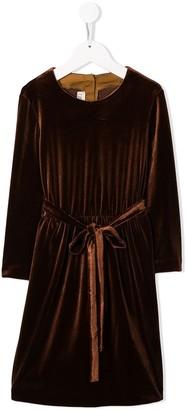 Caffe' D'orzo Mia velour tie-waist dress
