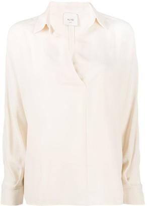 Alysi V-Neck Silk Blouse