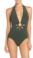 Robin Piccone Women's Halter One-Piece Swimsuit