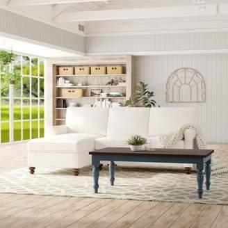 Gracie Oaks Macek Sectional Gracie Oaks Upholstery Color: Bayou Natural, Orientation: Left Hand Facing