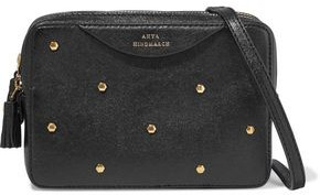 Anya Hindmarch Hexagon Studded Textured-leather Shoulder Bag