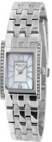 Kenneth Cole New York Women's KC4874 Classic Tank Silver Stone on Bezel Watch