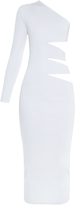 Balmain Cutaway-side one-shoulder midi dress