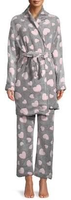 Sleep & Co Women's 2-Piece Robe and Pant Sleep Set
