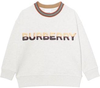Burberry Cotton Blend Sweatshirt With Logo Print