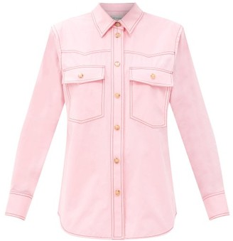 Lee Mathews May Western Cotton-poplin Shirt - Pink