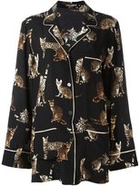 Dolce & Gabbana Bengal cat print pyjama shirt