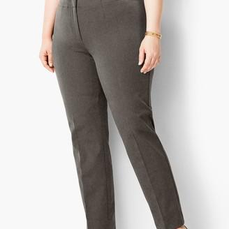 Talbots Plus Size Refined Bi-Stretch Tailored Straight-Leg Pants
