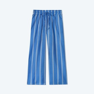 Summersalt The Effortless Crop Wide Leg Pant - French Stripe in Indigo