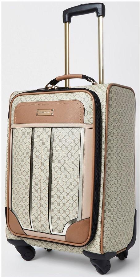 River Island Monogram Suitcase