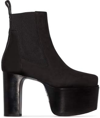 Rick Owens Black Kiss 125mm open-toe ankle boots