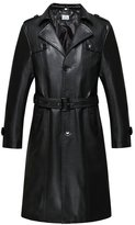 VearFit Long coat PU leather jacket for women