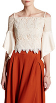Gracia Off-The-Shoulder Lace Butterfly Sleeve Blouse