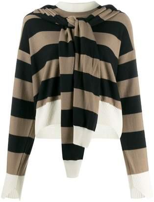 Sonia Rykiel layered striped sweater