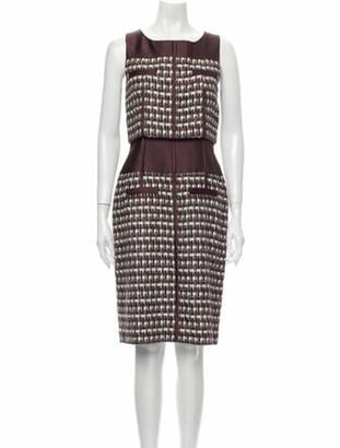 Oscar de la Renta 2011 Knee-Length Dress w/ Tags Brown