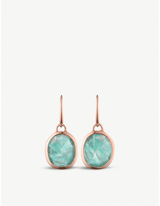 Monica Vinader Siren 18 rose-gold vermeil and amazonite wire earrings