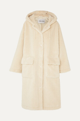 Stand Studio - Jessica Oversized Faux Shearling Coat - Cream