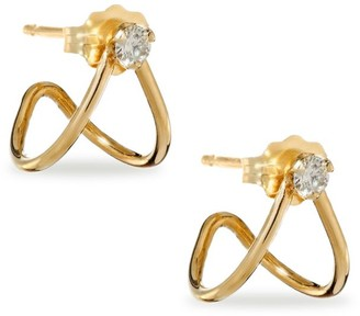 Zoë Chicco Diamond & 14K Yellow Gold Split Earrings