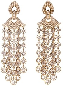 Marina B 18K Yellow Gold & Titanium Pampilles Diamond, Champagne Diamond & Smoky Quartz Chandelier Earrings
