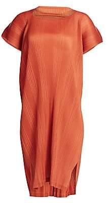 Pleats Please Issey Miyake Women's Double Pleats Short Sleeve Dress