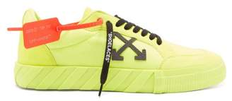 Off-White Off White Vulcanised Canvas Trainers - Mens - Yellow Multi