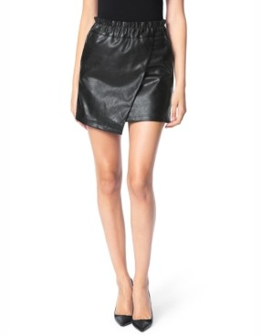 Joe's Jeans Faux-Leather Paperbag Skirt