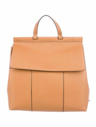 Tory Burch Leather Backpack Brown