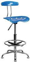 Offex Vibrant Drafting Stool with Tractor Seat