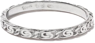 Wouters & Hendrix Gold 18kt white gold Snail Diamond Chain ring
