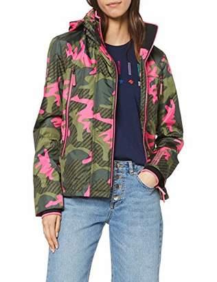 Superdry Women's Tech Print Velocity Windcheater Jacket, (Hot Pink Camo U2e), Small (Size: )