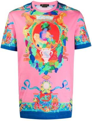 Versace Printed Slim-Fit T-Shirt